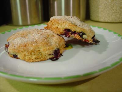 Scones with blueberries