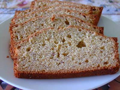 Slices of banana bread